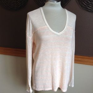 WE THE FREE peach slouch sweater S M